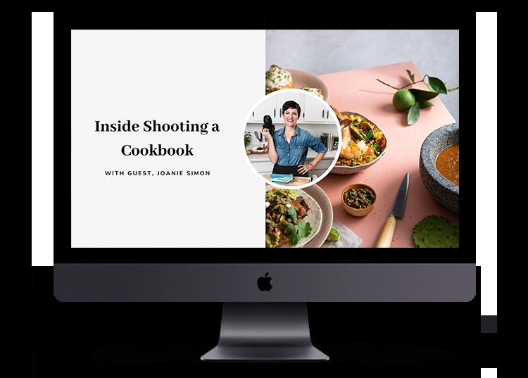 Inside Shooting a Cookbook Masterclass
